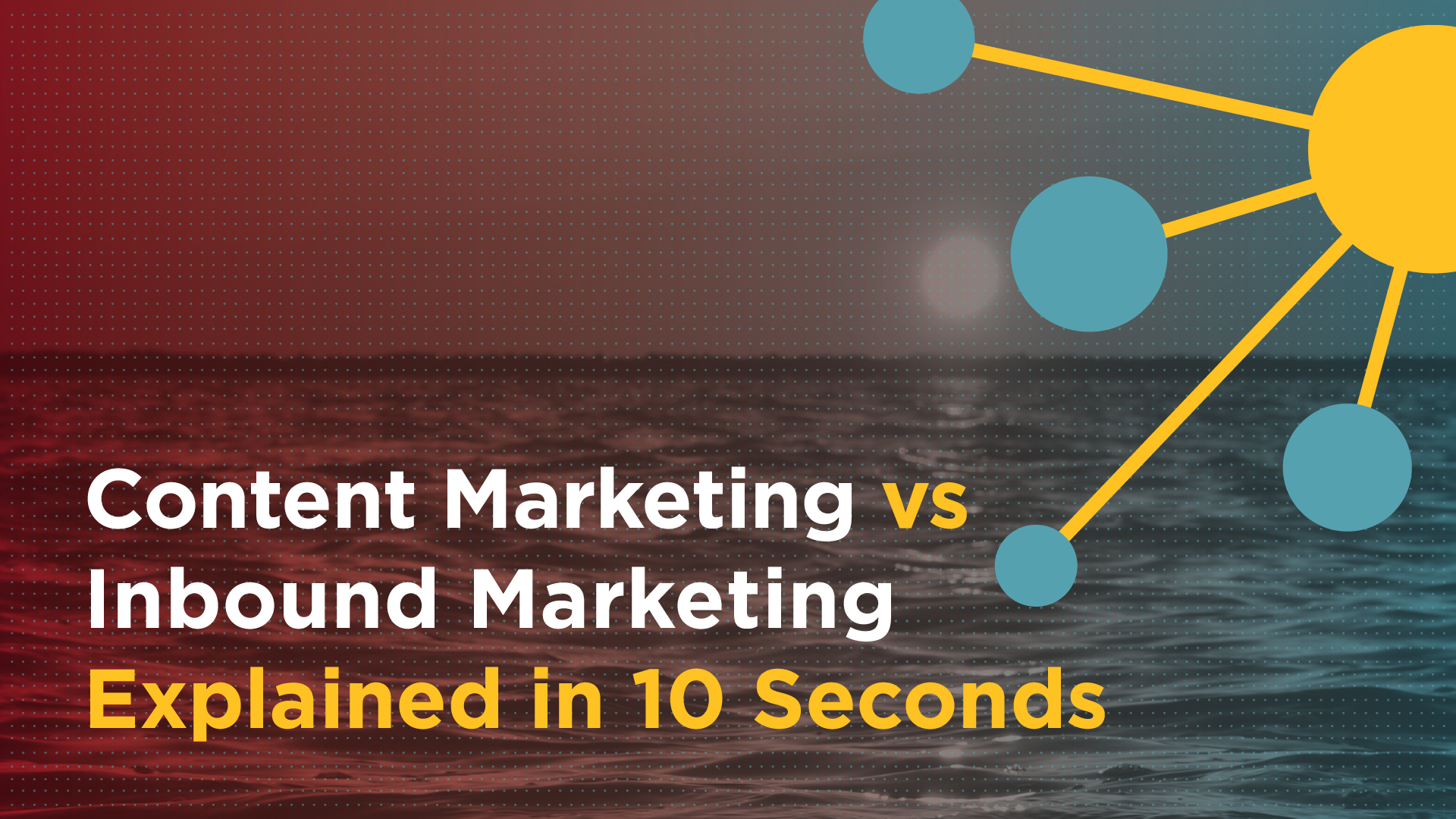 Content Marketing vs Inbound Marketing Explained in 10 Seconds Featured Image